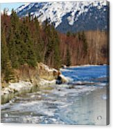 Portage Creek Portage Glacier Highway, Alaska Acrylic Print