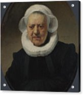 Portrait Of Aechje Claesdr   Acrylic Print