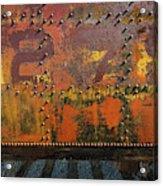 Railcar Abstract Acrylic Print