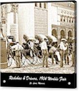 Rickshas And Drivers, 1904 Worlds Fair Acrylic Print