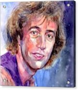 Robin Gibb Portrait Acrylic Print