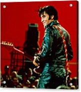 Rock And Roll Musician Elvis Presley Acrylic Print