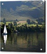 Sailboat On Ullswater In The Lake Acrylic Print
