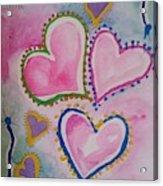 Seven Hearts Acrylic Print