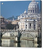 St Peters Basilica, Rome, Italy Acrylic Print