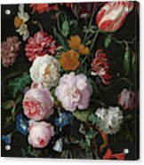 Still Life With Flowers In A Glass Vase, 1683 Acrylic Print