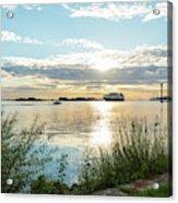Sunset On The Elbe Acrylic Print
