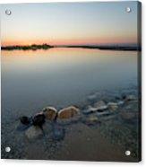 Sunset Over Platte River  Acrylic Print