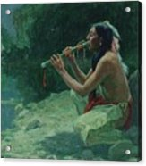 The Call Of The Flute Acrylic Print
