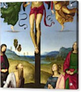 The Crucified Christ With The Virgin Mary, Saints And Angels  The Mond Crucifixion Acrylic Print