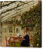 The Family Of Mr  Westfal In The Conservatory  Acrylic Print