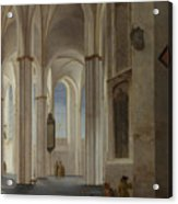 The Interior Of The Buurkerk At Utrecht  Acrylic Print