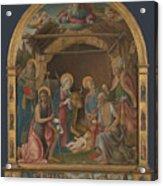 The Nativity With Saints Altarpiece  Acrylic Print