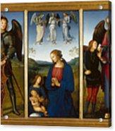 Three Panels From An Altarpiece  Certosa  Acrylic Print