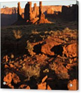 Totem Pole Formation At Sunset Acrylic Print