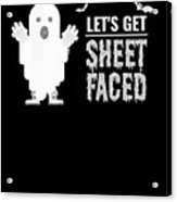 tshirt Lets Get Sheet Faced sketch Acrylic Print