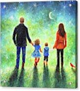 Twilight Walk With Mom And Dad Acrylic Print