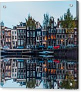 Typical Dutch Houses Reflections Acrylic Print