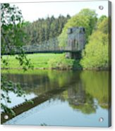Union Bridge At Horncliffe On River Tweed Acrylic Print