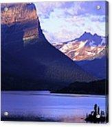 Usa, Montana, Glacier Np, Mountains Acrylic Print