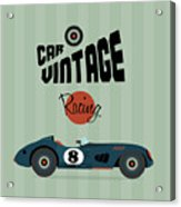 Vector Vintage Sport Racing Car Acrylic Print