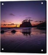 Washington Coast Last Light Acrylic Print