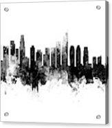 Washington Dc, Los Angeles And Buenos Aires Skyline Mashup Acrylic Print