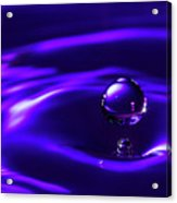Water Drop Falling Into Water Acrylic Print