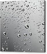 Water Drops Background Dew Condensation Acrylic Print