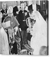 Wedding Of Prince Rainier And Grace Acrylic Print
