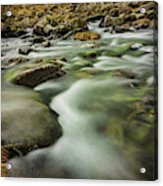 Winter River Rapids Acrylic Print
