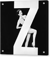Woman With Huge Letter Z Acrylic Print