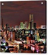 Yokohama Nightscape Acrylic Print
