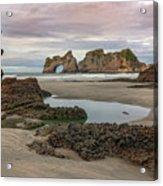 Wharariki Beach - New Zealand Acrylic Print