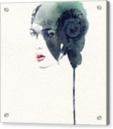 Woman Face. Hand Painted Fashion Acrylic Print