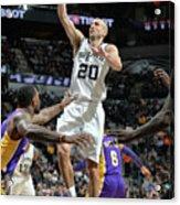 Los Angeles Lakers V San Antonio Spurs Acrylic Print