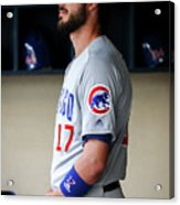 Chicago Cubs V Milwaukee Brewers 12 Acrylic Print