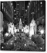 Christmas Tree At Rockefeller Center Acrylic Print