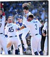 Colorado Rockies V Los Angeles Dodgers 13 Acrylic Print