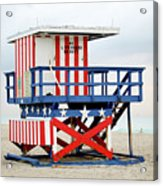 13th Street Lifeguard Tower - Miami Beach Acrylic Print