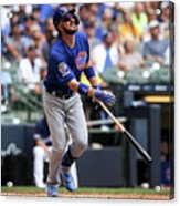Chicago Cubs V Milwaukee Brewers 14 Acrylic Print