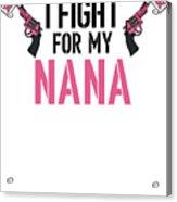 Breast Cancer Awareness Art For Warrior Women Light Acrylic Print