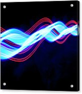 Abstract Light Trails And Streams Acrylic Print