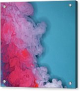 Colored Smoke Acrylic Print