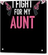 Breast Cancer Awareness Art For Warrior Women Dark Acrylic Print