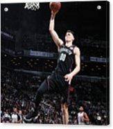 Detroit Pistons V Brooklyn Nets Acrylic Print