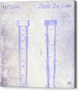 1860 Fire Hose Nozzle Patent Blueprint Acrylic Print
