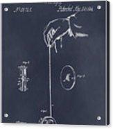 1866 Yo-yo Whirligig Blackboard Patent Print Acrylic Print