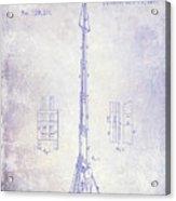 1871 Fire Hose Elevator Patent Blueprint  Acrylic Print
