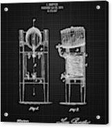 1876 Brewing Cooler - Black Blueprint Acrylic Print